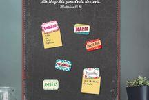 Magnettafeln/Magnete / handmade Magnettafeln und Magnete in verschiedenen Farben/Formaten ...mit deinem Wunschnamen! :)