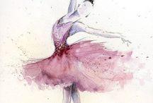 akvarell  dans