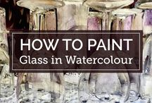 Glass, How to paint in Watercolour