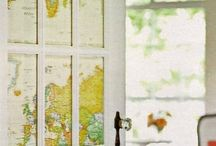 PROJECTS // maps / decorating with maps, repurposing maps + more / by Beth Goad