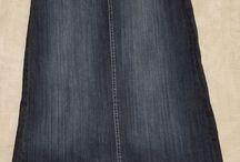 Jean Skirts Modest