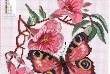 cross stitch butterfly's