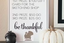 Giveaways! / Giveaways by The Sketching Shop