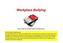 Workplace Bullying Training / This board is dedicated to all of the trainins we offer.