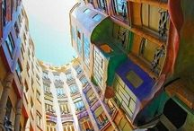Gaudi inspires in Barcelona / Fabulous colours, brave design, inspiration for designers everywhere... Fashion, interiors, gardens...