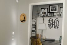 Space Saving Home Ideas / Closet office