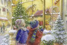 Kreslené  obrázky-Vianoce