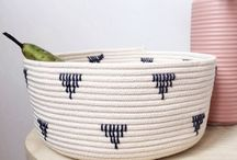 DIY Cotton Rope Storage Basket Home Decor
