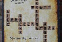 Scrabble ideas / by Debra Spiers