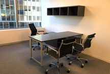 The Bill Gross Agency Installations / Three H Furniture installed on site
