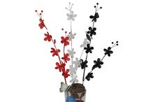 Beaded Spary/Stem / acrylic beaded branch/stem in vase for Home Decor