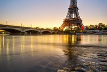 Paris  / Everything from monuments, museums, attractions; to bakeries, hotels, cafés and other places in Paris / by Abbie3296