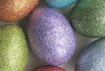 Húsvéti dekorációk / Imádok dísziteni minden ünnephez megfelelően. De szerintem ez látszik is...