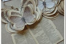 Book page butterflies / Bookpages