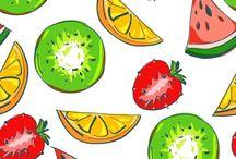 motifs fruits etc