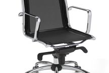 FLY MESH / Presidential and executive chair with mesh backrest and seat. Synchron multiblock mechanism, with adjustable tension and antishock backrest return system. Fixed aluminium armrests. Chrome steel base also for cantilever version.