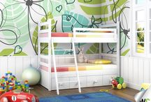 Wall murals for children! / Some wall murals ideal for a child's bedroom or playroom.