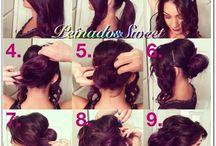 tutoriales / Peinados fotografiados paso a paso.