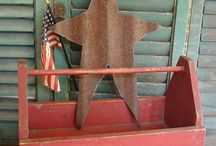 Primitive & Country Interiors / American Country & 'Primitive' style homes and interiors.