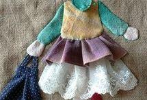 muñecas con retales para decorar
