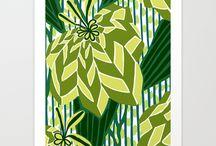 ART PRINTS: Deco Foliage / Art Deco foliage and trees - art prints by artist Nancy Lorene. / by Nancy Lorene
