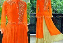 Kurta Skirt / Yellow is a Designer Online store for Women. A one single stop for Kurtis, Sarees, Office Wear and Kids Wear. www.yellowkurti.com