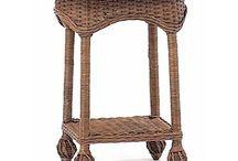 плетёная мебель, сундуки, панно