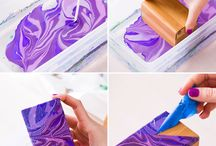 Create Marble with nail polish