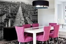 Attractive Dining Room Design Ideas with Modern Wall Murals / Creative Ideas to decorate your dinning area and make the food even more interesting.  To hire interior designers and decorators in Thane, Mumbai and Navi Mumbai Call 9892343410 You can even log on to : www.elevationinterior.com