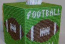 Tissue box covers and other boxes...plastic canvas, etc. / Boxes of all kinds... / by Jeanie Catron