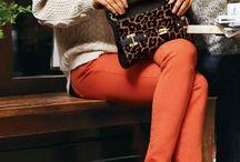 calças laranja