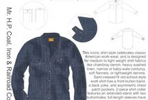 Menswear...all our Mr. H.P. styles / ...here's a look at our menswear patterns, and the inspiration behind them...