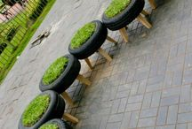 DIY Tire Crafts / We sell a LOT of tires....why not put your old tires to good use!