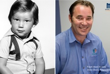 From then to now / Mining People staff compare a photo of themselves at the age of 4 to a photo taken today.