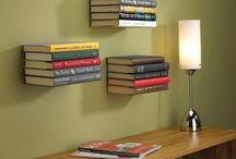 Estante Invisible / Estante para libros que permite decorar en espacios pequeños. Crea con imaginación tu propia libería.
