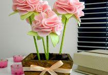 Flores em feltro