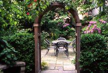 Декорируем сад / Хорошая погода и тепло уже совсем близко и в такое время года нам, конечно же, хочется все больше времени проводить на улице чем в закрытых помещениях.