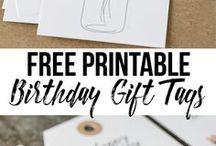 Printable - Tags, etc