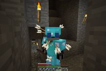 Minecraft / Minecraft is a sandbox building game in 3D pixelated randomly generated unlimited worlds. Gather resources in several ways from your surroundings; especially mining. Beware of zombies, skeletons and especially the creepers while building and shaping the world to your liking.