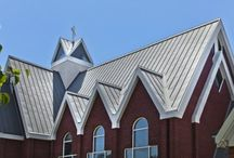 Good Shepherd Lutheran Church / Good Shepherd Lutheran Church, located in Columbia South Carolina, underwent a roof renovation in 2009. Replacing its old roof with a new VMZINC Double lock standing seam roof using QUARTZ-ZINC material.