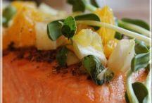 Pavé de saumon, salsa au fenouil et à l'orange