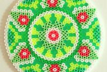 Mandala Hama perler beads