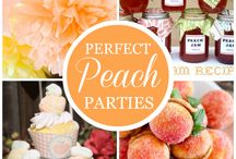 Peach Themed Party Ideas / Fun Peach themed party ideas, including peach cakes, cupcakes, peach themed treats, Peach themed printables, decorations, party favors, and party activities.