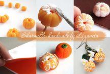 мандарины с полимерки