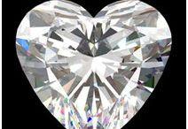Heart Cut Diamonds / Heart shaped diamonds are brilliant cuts with curved lobes that stem from a centered cleft.  The lobes slope down to form a sharp point. To learn more, visit: http://www.pricescope.com/wiki/diamonds/heart-cut-diamond