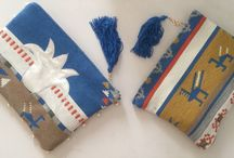 Wooven clutch bags