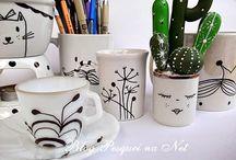 canetas porcelanas