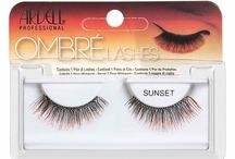 "Ardell - Ombré Collection / Ardell Lashes Introduces New Ombré Collection available October 2014 at Madame Madeline Lashes. Flirt with color this season with the new Ombré Lashes from Ardell. From a subtle touch of color to ""can't miss me"" bold hues, these shade shifting lashes start out black at the base and gradually fade into a pop of color at the tips. Choose from blue, purple, lilac, sunset orange, red and pink to create a spooky yet sexy look this Halloween."