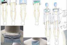 fashion design process sketch layout