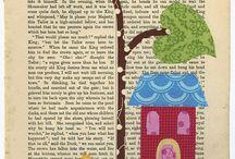 Pintar sobre páginas de libros